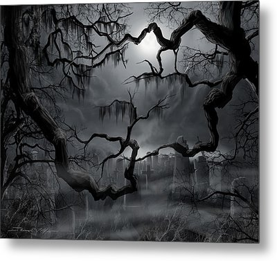 Midnight In The Graveyard II Metal Print by James Christopher Hill