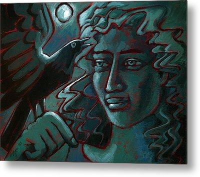 Metal Print featuring the painting Midnight Message by Angela Treat Lyon