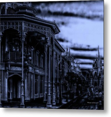 Midnight On Main Street Disney World Mp Metal Print