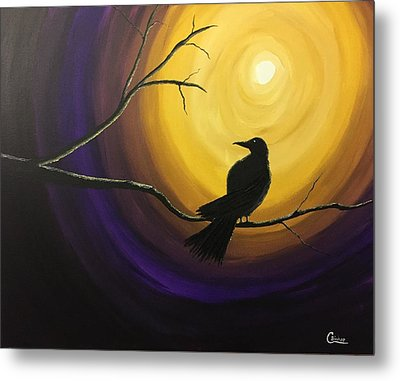 Midnight Raven Metal Print