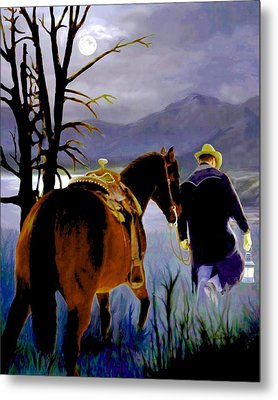 Midnight Ride Metal Print by Ron and Ronda Chambers