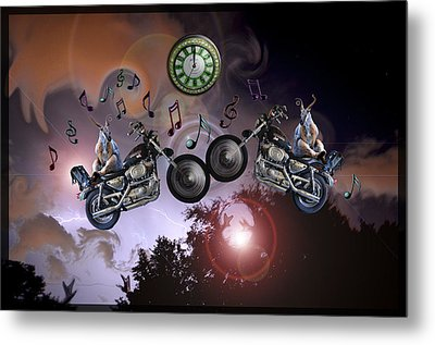 Metal Print featuring the photograph Midnight Rider by Amanda Vouglas