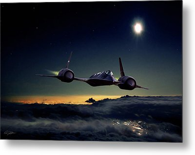 Midnight Rider Metal Print by Peter Chilelli