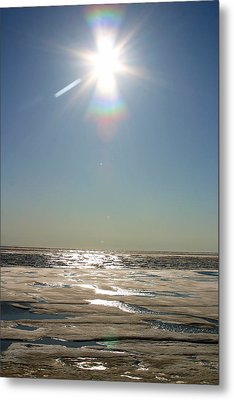 Midnight Sun Over The Arctic Metal Print by Anthony Jones