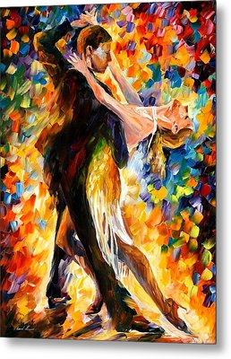 Midnight Tango Metal Print by Leonid Afremov