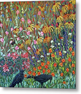Midsummer Enchantment- Diptych Side A Metal Print by Susan  Spohn