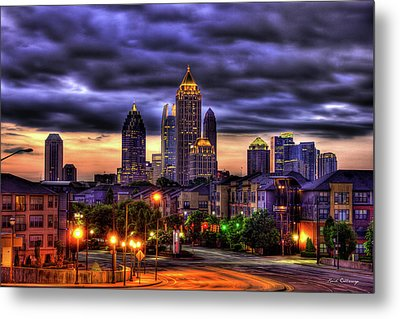 Midtown Atlanta Towers Over Atlantic Commons Metal Print by Reid Callaway