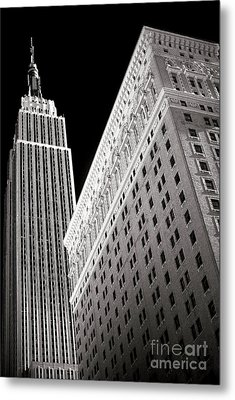 Metal Print featuring the photograph Midtown Empire by John Rizzuto