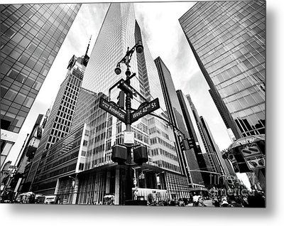Metal Print featuring the photograph Midtown by John Rizzuto