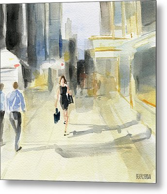 Midtown Light And Shadows Metal Print by Beverly Brown