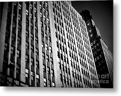 Metal Print featuring the photograph Midtown Noir by John Rizzuto