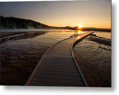 Metal Print featuring the photograph Midway Basin Sunset by Dan Mihai