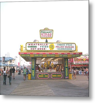 Midway Steak House - The Boardwalk At Seaside Metal Print by Bob Palmisano