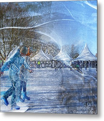 Midwinter Blues Metal Print