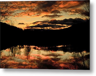 Midwinter Sunrise Metal Print by Albert Seger