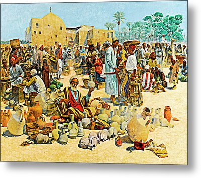 Mielich Pottery Seller Metal Print