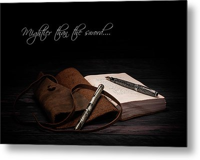Mightier Than The Sword Metal Print