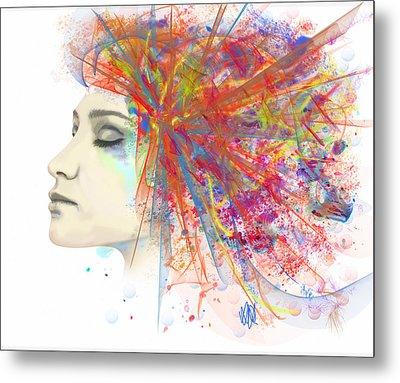 Migraine Metal Print by Angela A Stanton