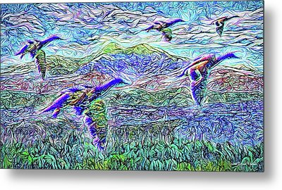 Migrate Beyond The Mountain Metal Print by Joel Bruce Wallach