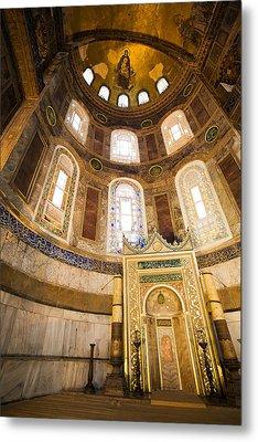 Mihrab In The Hagia Sophia Metal Print by Artur Bogacki