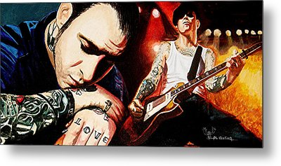 Mike Ness 'nuff Said Metal Print by Al  Molina
