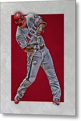 Mike Trout Los Angeles Angels Art 2 Metal Print by Joe Hamilton
