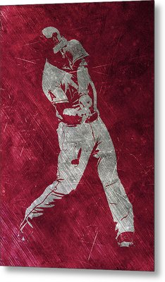 Mike Trout Los Angeles Angels Art Metal Print by Joe Hamilton