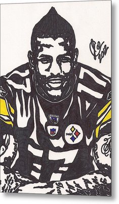Metal Print featuring the drawing Mike Wallace 1 by Jeremiah Colley