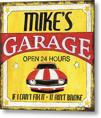 Mike's Garage Metal Print