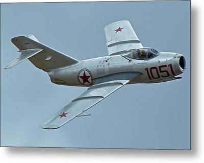 Metal Print featuring the photograph Mikoyan-gurevich Mig-15 Nx87cn Chino California April 30 2016 by Brian Lockett