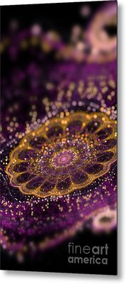 Mikroskopic I Metal Print by Sandra Hoefer