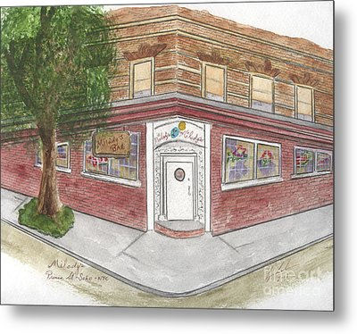 Milady's Bar In Soho Metal Print by AFineLyne