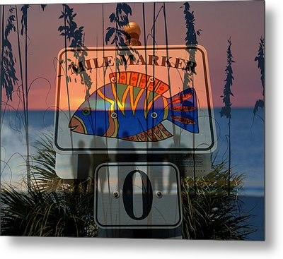 Metal Print featuring the photograph Mile Marker 0 Sunset by David Lee Thompson