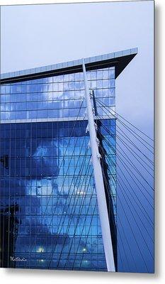 Milennium Bridge Spire Metal Print
