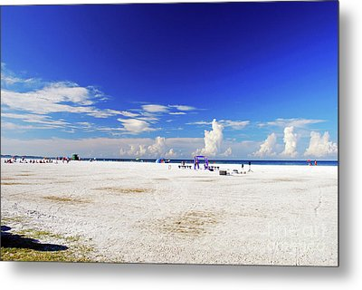 Metal Print featuring the photograph Miles And Miles Of White Sand by Gary Wonning