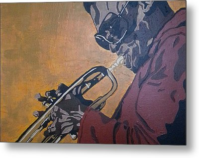 Metal Print featuring the painting Miles Davis by Rachel Natalie Rawlins
