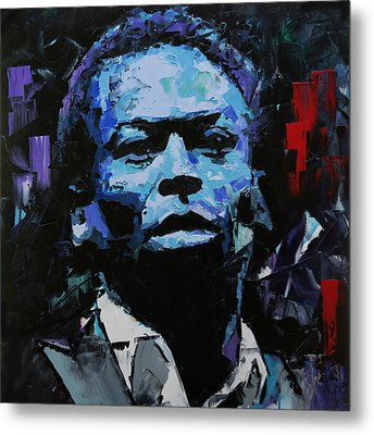 Metal Print featuring the painting Miles Davis by Richard Day