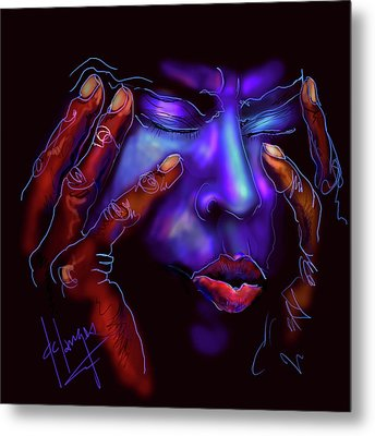 Metal Print featuring the painting Miles by DC Langer