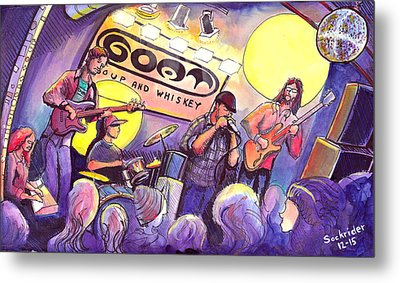 Metal Print featuring the painting Miles Guzman Band by David Sockrider