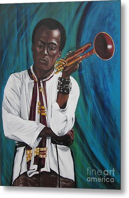 Miles-in A Really Cool White Shirt Metal Print