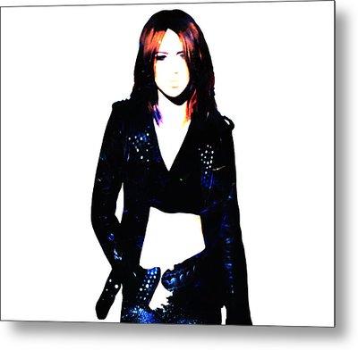 Miley Cyrus 8c Metal Print