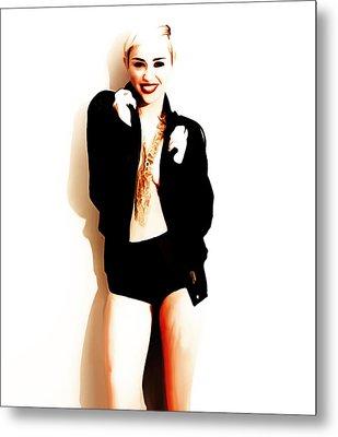 Miley Cyrus Lets Dance Metal Print