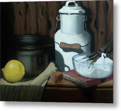 Milk Jug Meringue Metal Print by Susan Roberts