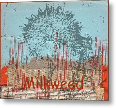 Milkweed Collage Metal Print by Cynthia Powell