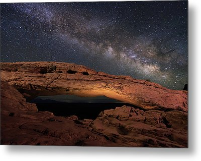 Metal Print featuring the photograph Milky Way Above Mesa Arch. by Johnny Adolphson
