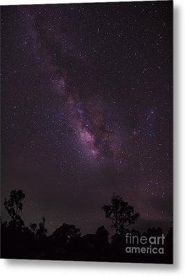 Milky Way And Galaxy. Metal Print by Tosporn Preede