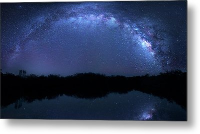 Metal Print featuring the photograph Milky Way At Mrazek Pond by Mark Andrew Thomas