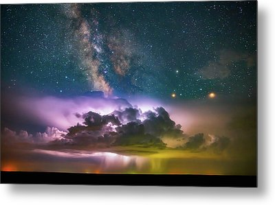 Milky Way Monsoon Metal Print by Darren White