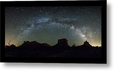 Milky Way Over Bell Metal Print by Tom Kelly