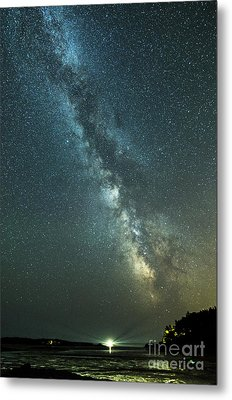 Milky Way Over Clams Flats Metal Print by Patrick Fennell